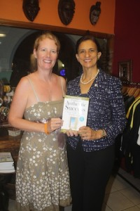 Prime Minister Sarah Westcott-Williams and Amanda Steadman at Book Signing for Connect to Authentic Success
