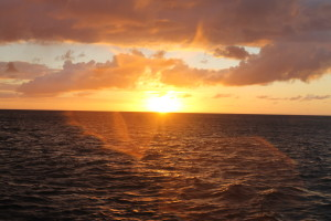 Sun says Au Revoir..