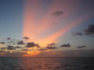 Caye Caulker Sun Rays