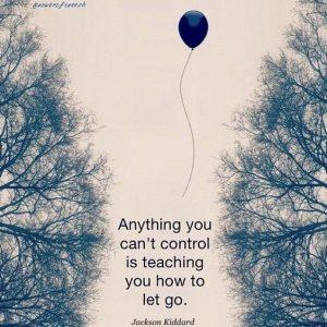 Letting Go...feels good!